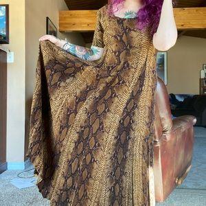 Vintage American Angel Snake Print Oversized Dress